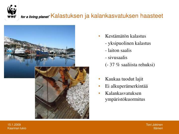Kalastuksen ja kalankasvatuksen haasteet