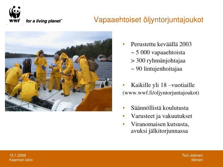 Vapaaehtoiset öljyntorjuntajoukot