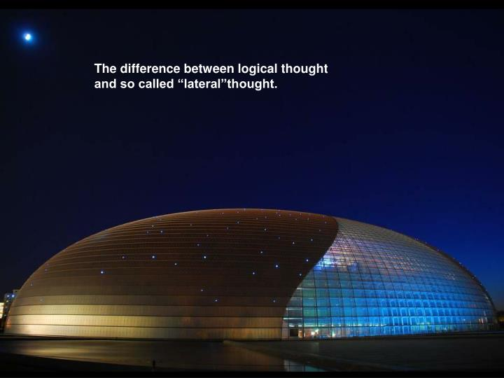 The difference between logical thought