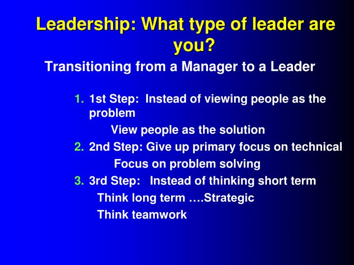 Leadership: What type of leader are you?