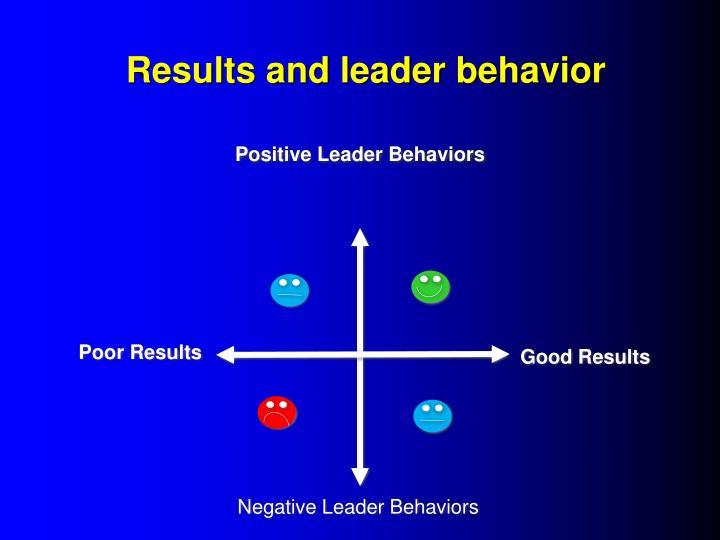 Results and leader behavior