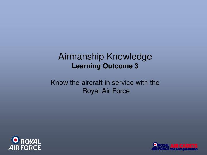 Airmanship Knowledge