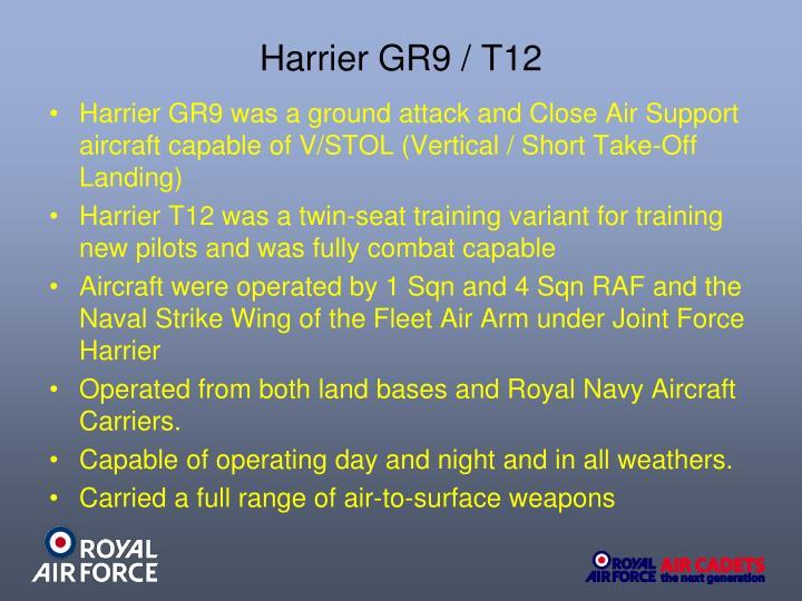 Harrier GR9 / T12