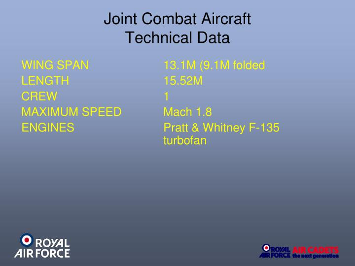 Joint Combat Aircraft