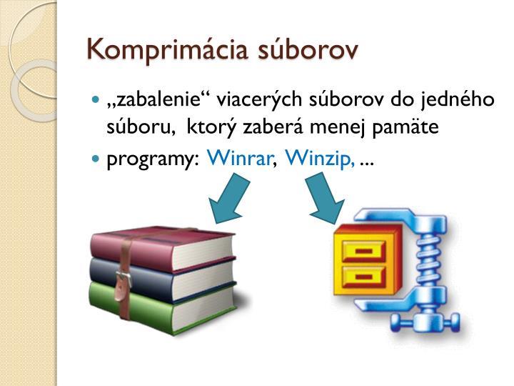 Komprimácia súborov