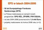efs w latach 2004 2006