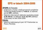 efs w latach 2004 20063