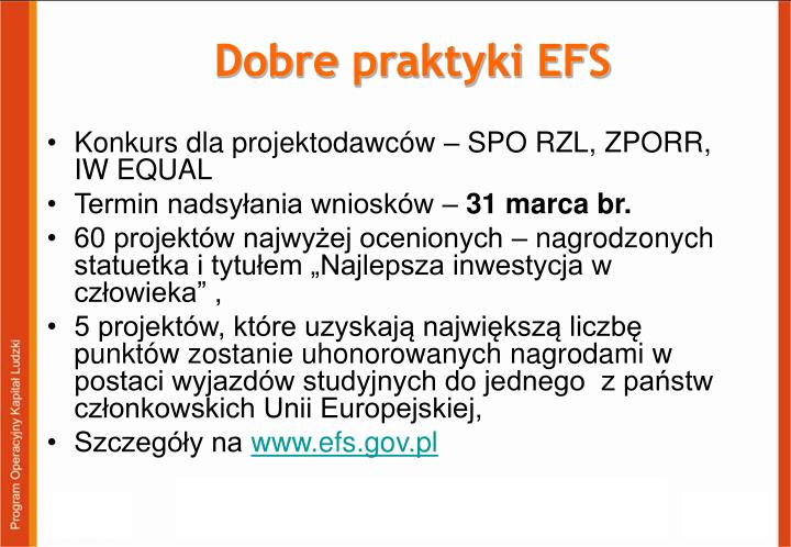 Dobre praktyki EFS