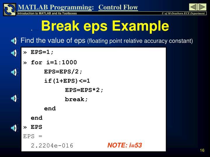 Break eps Example