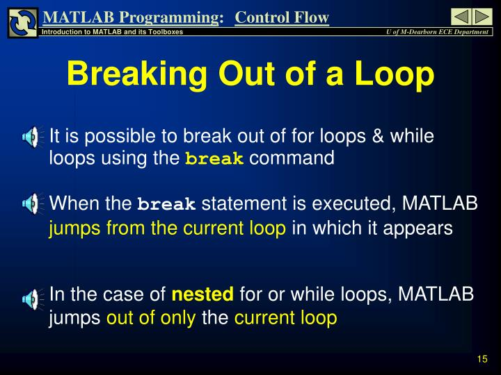 Breaking Out of a Loop
