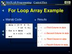 for loop array example