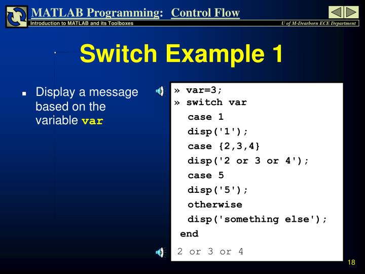 Switch Example 1