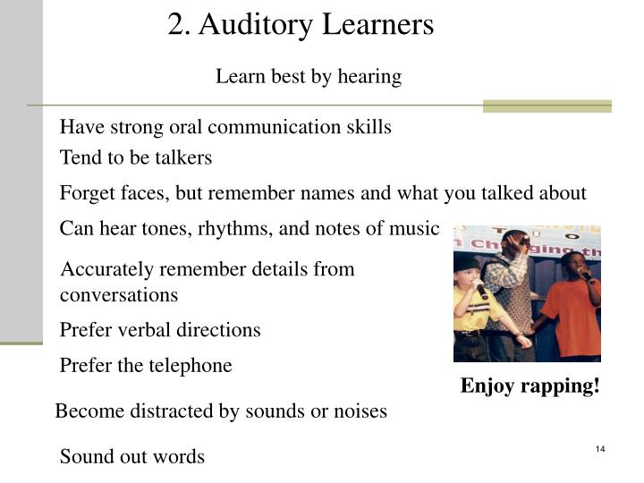 2. Auditory Learners