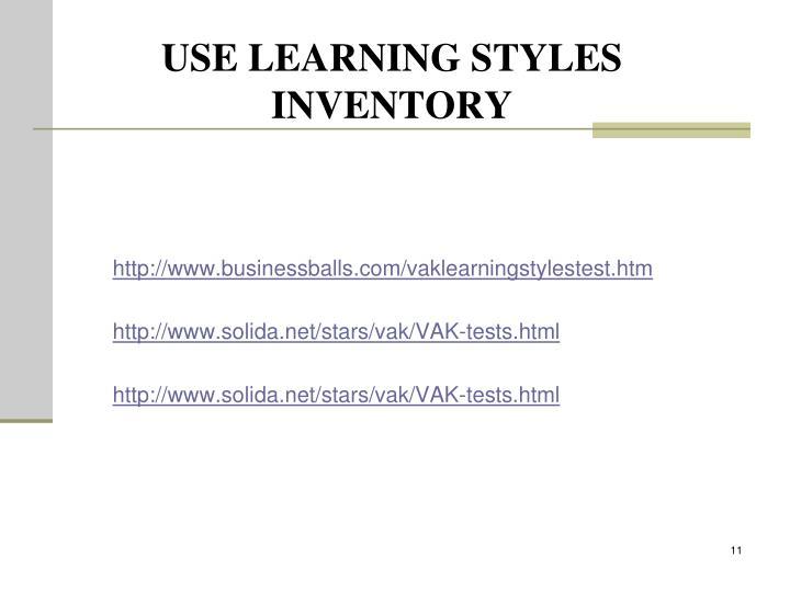 http://www.businessballs.com/vaklearningstylestest.htm