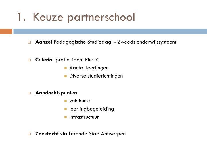Keuze partnerschool