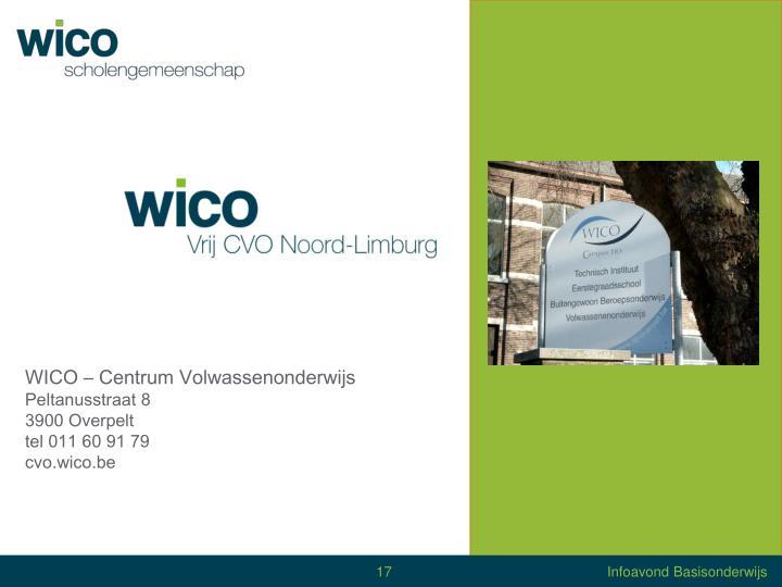 WICO – Centrum Volwassenonderwijs