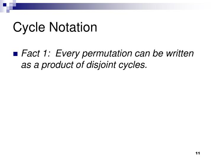 Cycle Notation