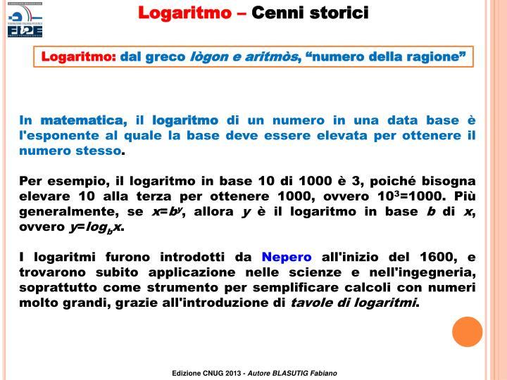 Logaritmo –