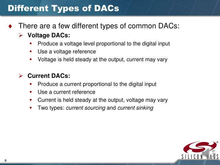 Different Types of DACs