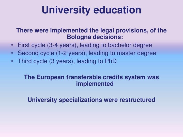 University education