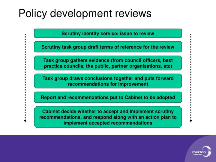 Policy development reviews