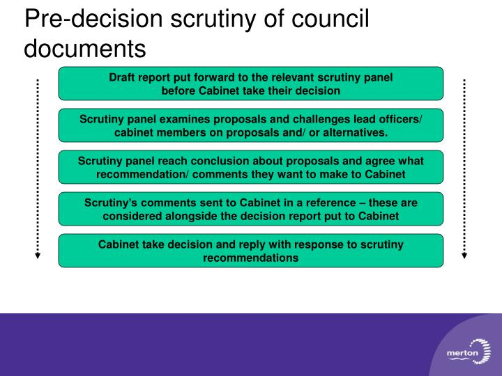 Pre-decision scrutiny of council documents