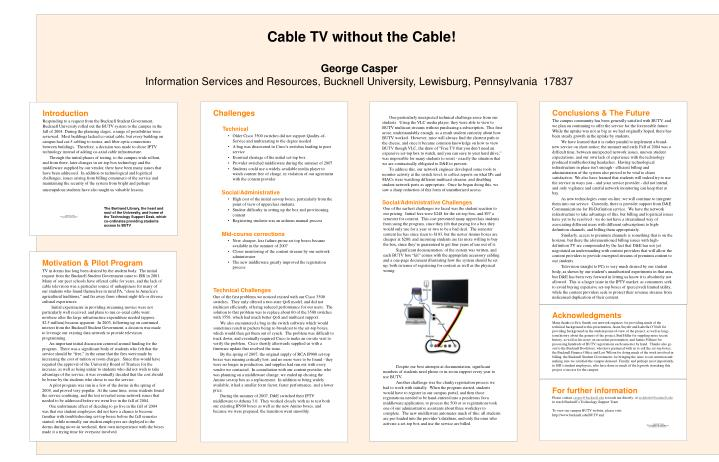 Cable TV without the Cable!