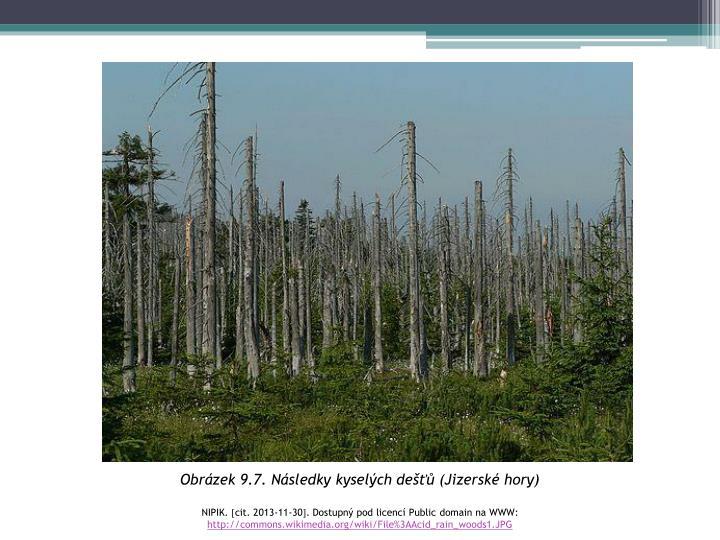 Obrázek 9.7. Následky kyselých dešťů (Jizerské hory)