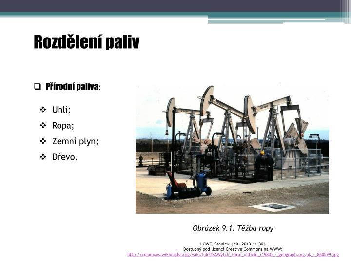 Rozdělení paliv