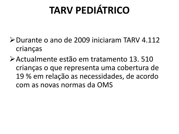 TARV PEDIÁTRICO
