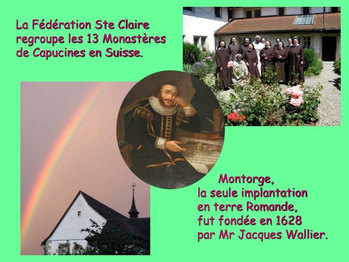 La Fédération Ste Claire