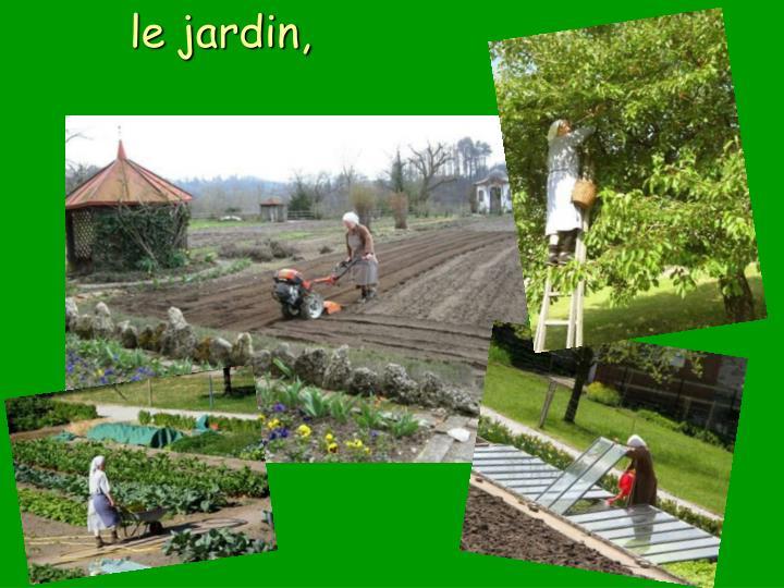 le jardin,