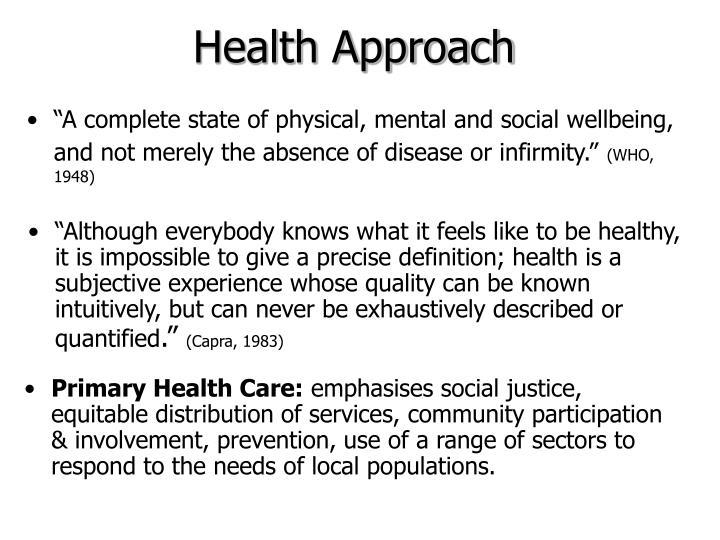 Health Approach
