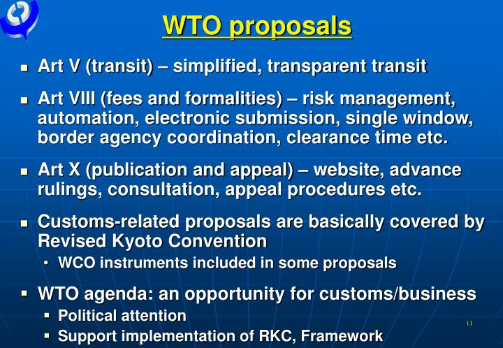 WTO proposals
