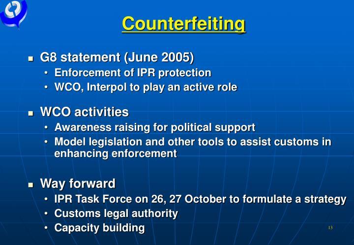 Counterfeiting