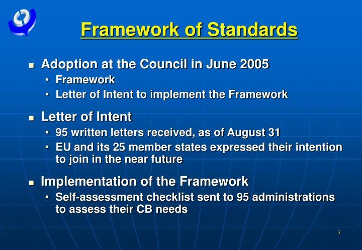 Framework of Standards