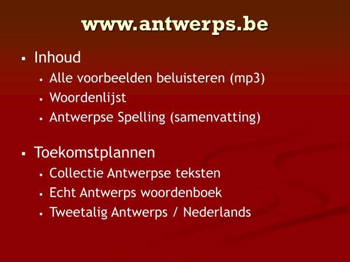 www.antwerps.be