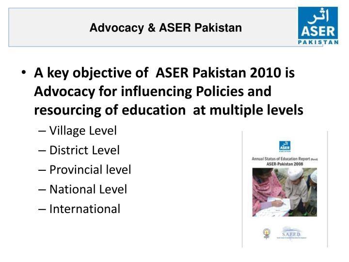 Advocacy & ASER Pakistan