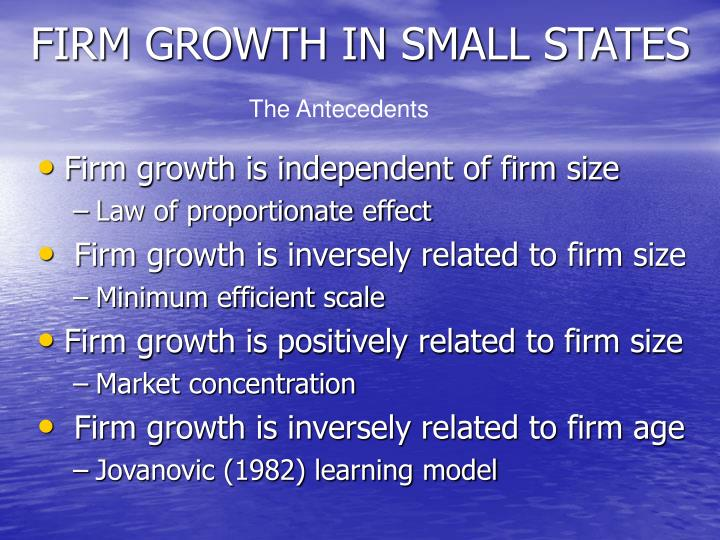 Firm growth in small states
