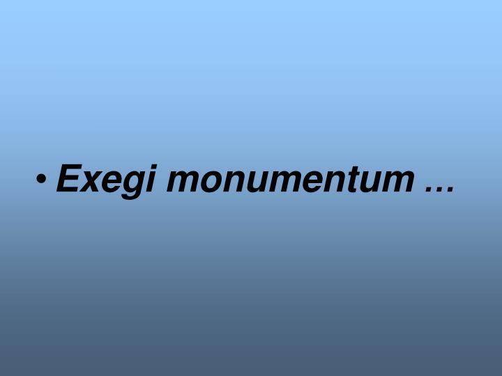 Exegi monumentum