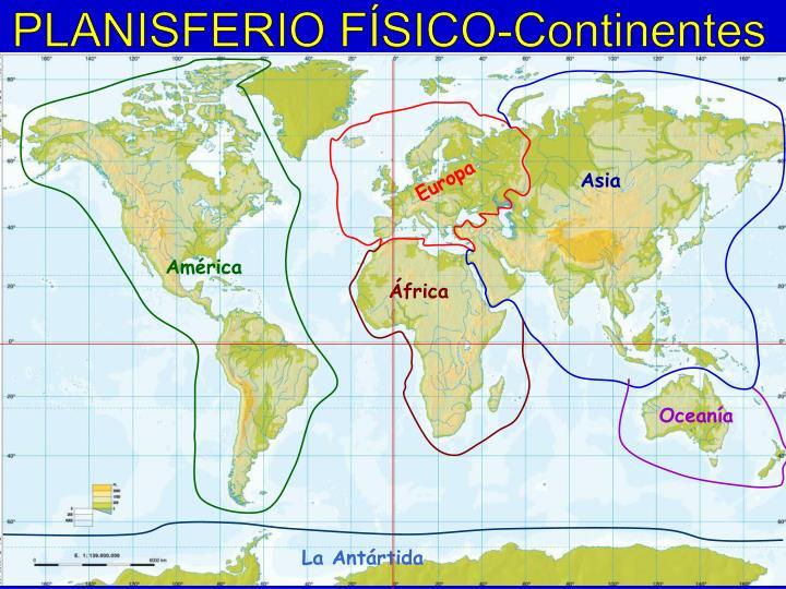 PLANISFERIO FÍSICO-Continentes