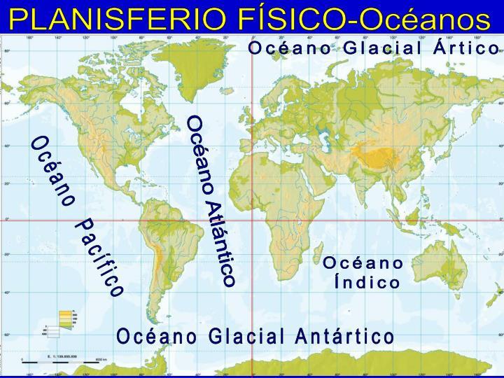 PLANISFERIO FÍSICO-Océanos