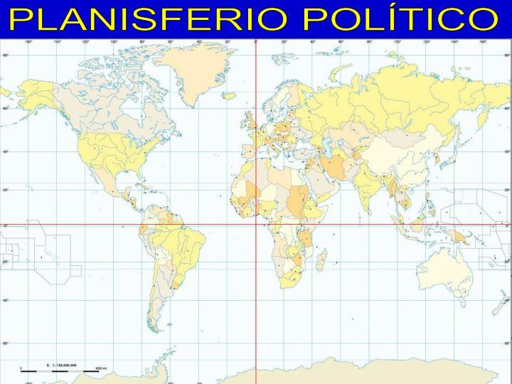 PLANISFERIO POLÍTICO
