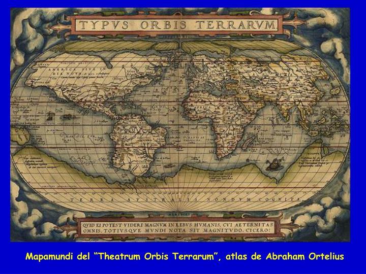 """Mapamundi del """"Theatrum Orbis Terrarum"""", atlas de Abraham Ortelius"""