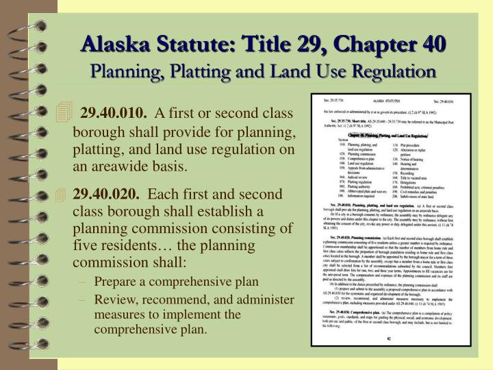 Alaska Statute: Title 29, Chapter 40