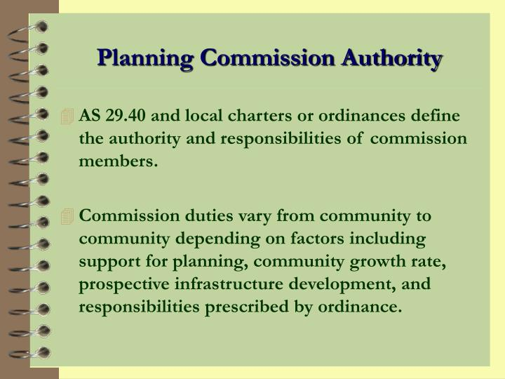 Planning Commission Authority