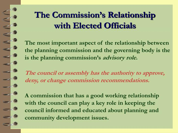 The Commission's Relationship