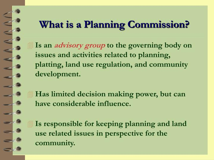What is a Planning Commission?
