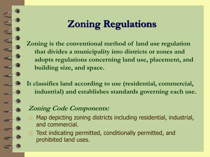 Zoning Code Components: