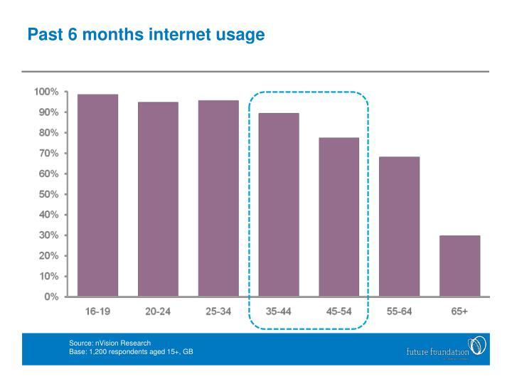 Past 6 months internet usage